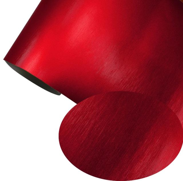 Autofolie Rot Matt Folie 152 cm x 50 cm Selbstklebend Luftkanäle
