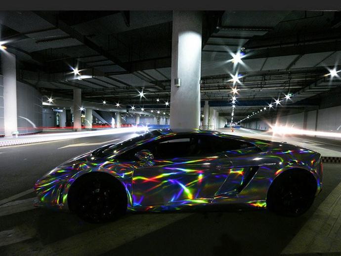 laser hologram chrom schwarz auto folie 149 cm x 20 meter. Black Bedroom Furniture Sets. Home Design Ideas