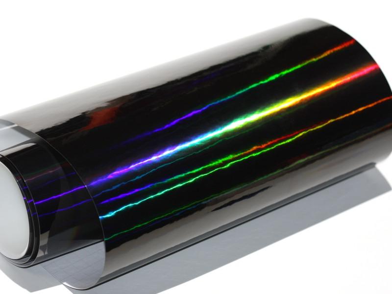 Laser Hologram Chrom Schwarz Auto Folie 149 cm x 50 cm mit Luftkanäle