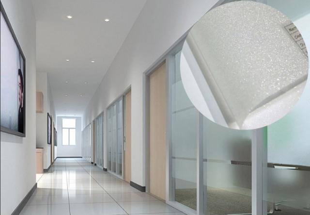 Glitzer Effekt Sichtschutzfolie Milchglasfolie 300cm x 122cm selbstklebend