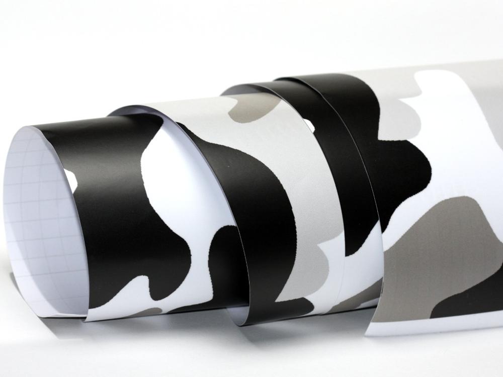 camouflage folie 20 x meter luftkan le schwarz wei. Black Bedroom Furniture Sets. Home Design Ideas