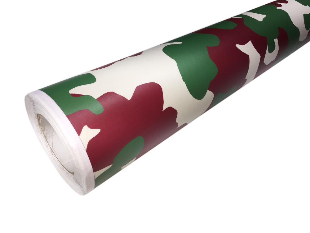 camouflage autofolie 50cm x 152cm luftkan le gr n bordeaux. Black Bedroom Furniture Sets. Home Design Ideas