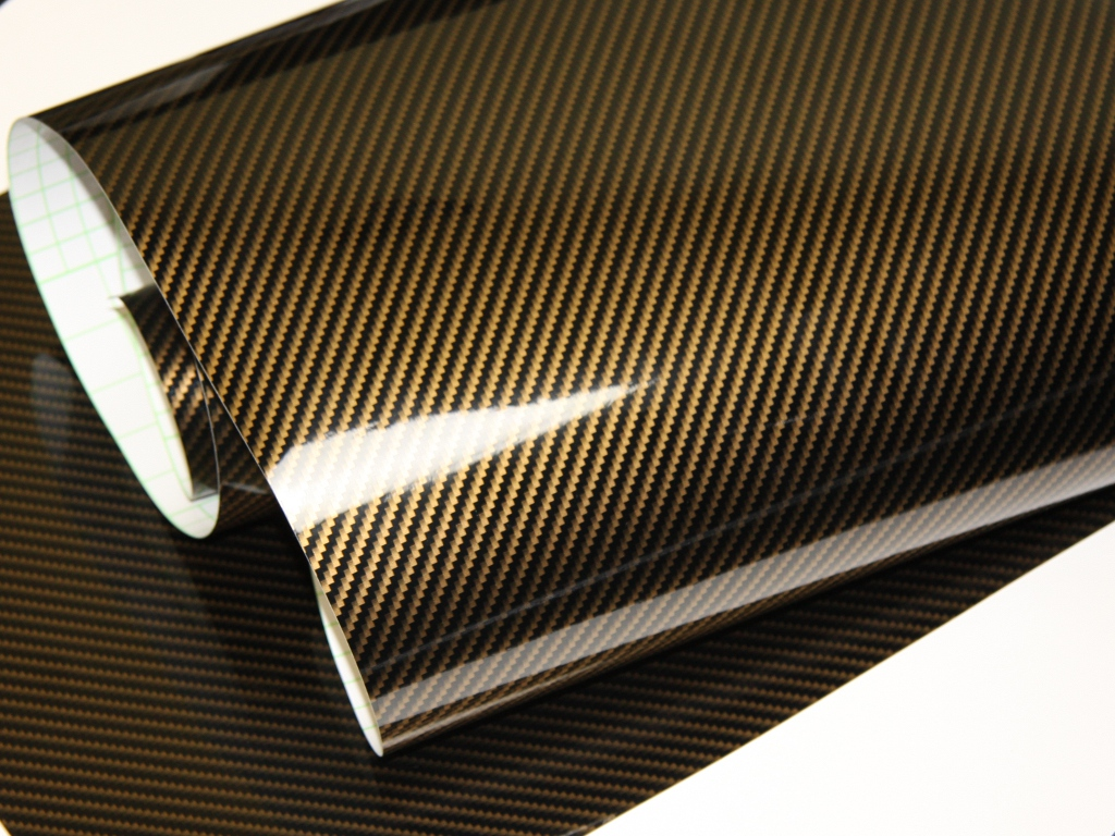 2d carbonfolie gold 152 cm x 12 meter blasenfrei mit. Black Bedroom Furniture Sets. Home Design Ideas