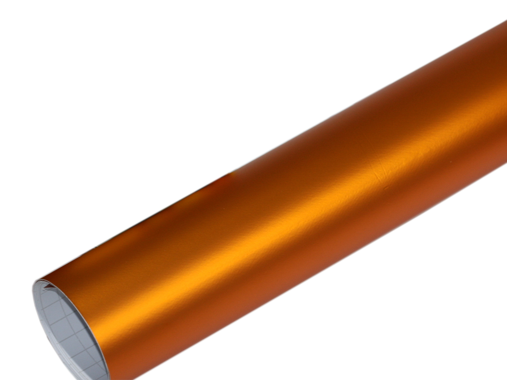 orange chrom matt metallic 100cm x 152cm blasenfrei. Black Bedroom Furniture Sets. Home Design Ideas