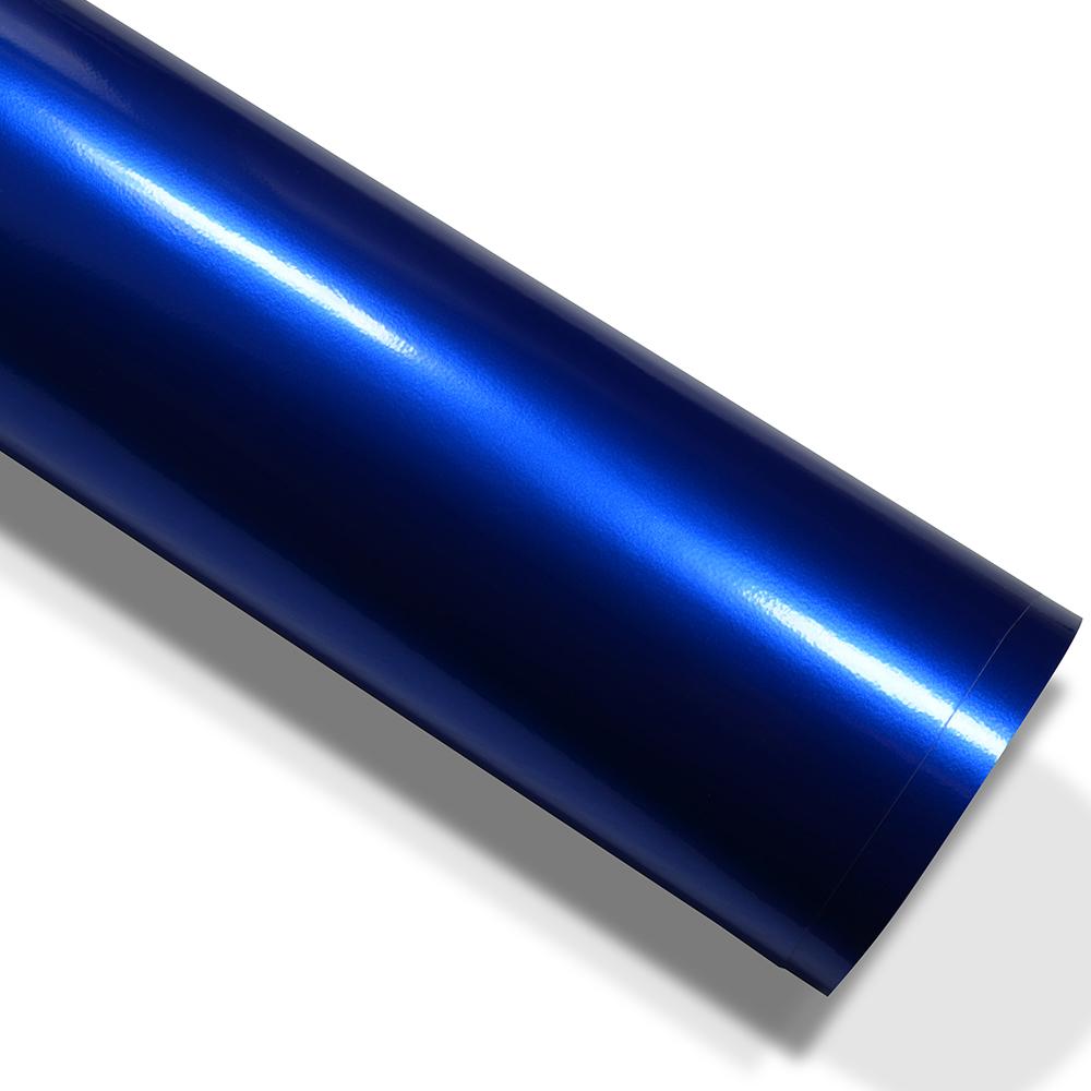Auto folie hochglanz metallic blau 500cm x 152cm mit for Hochglanz folie