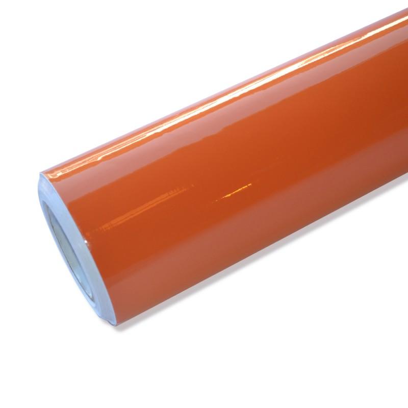 Autofolie hochglanz orange selbstklebend mit luftkan le for Hochglanz folie