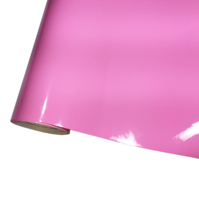 Autofolie hochglanz pink selbstklebend mit luftkan le for Hochglanz folie