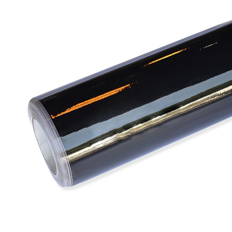Autofolie hochglanz schwarz selbstklebend mit luftkan le for Hochglanz folie